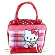 BGC Travel Bag Kanvas Mini + Selempang Hello Kitty Sarung- Red White