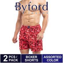Byford 100% Cotton Full Printed Boxers (2 Pieces) - Bud5040X