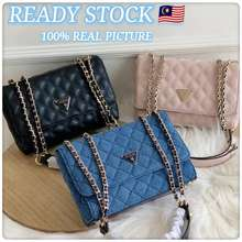 GUESS 🇲🇾🔥Ready Stock🔥 ® Cessily Women'S Flap Convertible Bag Sling Bag Crossbody Bag Shoulder Bag Quilted Bag