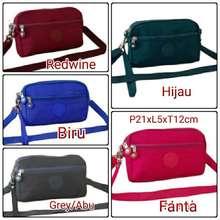 Kipling Shp/Dompet 4Sleting + Tali Panjang