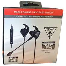 Turtle Beach Battle Buds In-Ear Gaming Headset ( Black/Silver )