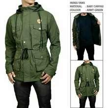 jaket parka pria premium hijau army xl 9e17619568