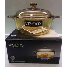 Visions covered Versa Pot with Glass Lid(0.8L/1.25L/2.25L/3.25L)/Periuk kaca (VS08 (0.8L))