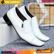 cevany Sepatu Pantofel Putih Pria Kulit asli premium quality original footwear opex series leather formal shoes