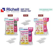 Richell [Rm15.21 After Shopee Coins Rebate] Baby Food Freezer Tray [15Ml / 25Ml / 50Ml] [Single / 2 / 3/ 4 Packs]