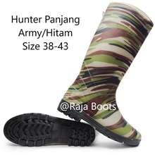 Hunter Sepatu Boot Panjang Army Hitam Termurah