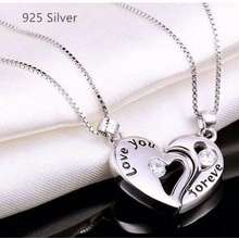 925 silver jewelries 925 Silver Necklace Couple Necklace Set I Love You Valentine Necklaces Silver Jewellery with Gift Box Jurricca