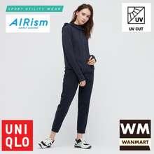 Uniqlo airism jaket wanita uv cut mesh hoodie navy 29ecfc4446