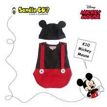 Mickey Mouse baju bayi jumper karakter stelan kostum topi lucu