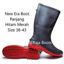 New Era Sepatu Boot Proyek Hitam Merah
