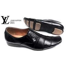Genuine Leather LV Mens Shoes Sepatu Pantofel Formal Tanpa Tali Pria Kulit Asli LV 311