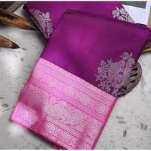 Kanjivaram Kanchipuram Cotton Silk Saree Dark Royal Wine Traditional Saree