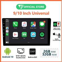 Eonon Android Car Player 9 Inch Ips Hd Full Touchscreen Car Radio With Built-In Apple Car Auto Play Built-In Dsp Split Screen Multitasking Bluetooth Ga2192