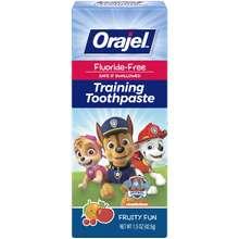 Orajel Paw Patrol Fluoride-Free Training Toothpaste, Fruity Fun Flavor, One 1.5Oz Tube: