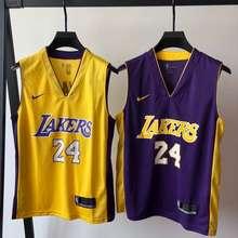 Nike 【Ready Stock】✖ Los Angeles Lakers Kobe No.24 V Neck Basketball 🏀Jerseys Set