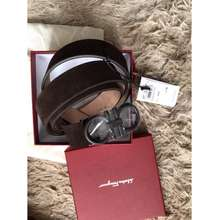 Salvatore Ferragamo Ferragamo Brown Leather Matt Black Bucker