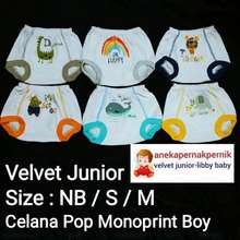 Velvet Junior 6 Pcs Size Nb, S, M Celana Pop Monoprint