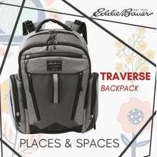 Eddie Bauer [SG Local Seller] Traverse Diaper Grey Backpack
