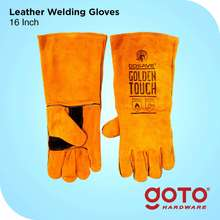 "Gosave Sarung Tangan Golden Touch 16"" Kulit Las Kuning Leather Welding 16 Inch Gloves"