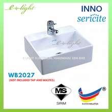 Sericite Bathroom Natralite Ceramic Basin Table Top Or Wall Hung Wash Basin Wb2027 / Sinki Bilik Air Wb2027