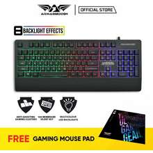 Armaggeddon Ak666X Kalashnikov Spill Proof Backlit Membrane Gaming Keyboard With Palm Rest Design