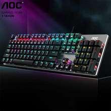 AOC Mechanical Switch Gaming Keyboard 104 Key Blue Switch (Gk410)