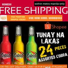 Cobra Energy Drink 240Mlx24Pcs Glass Bottle With Case (Free On The Day Delivery Metromanila)
