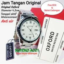 Oxford PRIA CLASSIC ANTI AIR ORIGINAL / LAGI PROMO JAM TANGAN ORIGINAL JAM TANGAN PRIA MODEREN / JAM TANGAN PRIA TERBARU / TANGGAL AKTIF / RANTAI STAINLEES ANTI BERKARAT / FREE BOX EXCLUSIVE & BATRAI CADANGAN / WATERESISTANT (Silver)