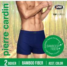 Pierre Cardin (2 Pieces) Men'S Anti-Bacterial Bamboo Boxer Shorts Underwear - Pc551-2X