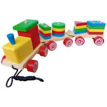 Mainan Kayu Shape Train - Kereta Bentuk Geometri - Kereta Geo