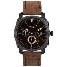 Fossil [Authentic] Men'S Chronograph Leather & Stainless Steel Watch Series (Remark/Pm for Design)