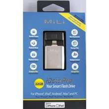 Mili iData Pro HI-D92 Smart Flash Drive 32 GB อุปกรณ์สำรองข้อมูลสำหรับ iPhone iPadAndroidMac และ PC เล็กจิ๋ว พกพาสะดวก สารพัดประโยชน์ ของแท้ รับประกันศูนย์ 3 เดือน (ทอง)