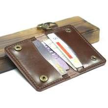 ATM Dompet Stnk Gantungan Kunci Dompet Pria Dompet Kartu Sim Etoll 12 Cokelat