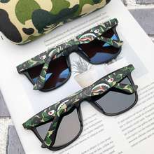 A BATHING APE Aape Sunglasses The Bathing Aape Spectacles Men'S Camouflage Shark Tide Polarized Lens Driving Eyes Driving Stylish