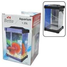 Betta Tank / Aquarium / Fish Tank 1.25L (10Cm X 10Cm X 18Cm)