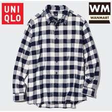Uniqlo men shirt kemeja flannel kotak pria lengan panjang 4f5ad2cc34