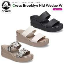 Crocs / Brooklyn Mid Wedge / Sandal Wedges / Sandal / Wanita / Wedges /Selop