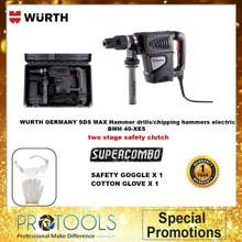 WURTH GERMANY Hammer drills/chipping hammers electric SDS MAX BMH 40-XES - 1 YEAR WARRANTY