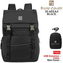 Bruno Cavalli Tas Backpack Water Proof 21L Geno 1.0 H-605A Feature Usb - Tas Ransel Pria