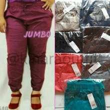 Jumbo jogger /celana jogger bigsize/bawahan/celana wanita