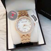 Anne Klein 🍃 Women'S Diamond Collection Rose Gold-Tone Bracelet Watch