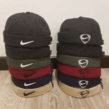 Nike 🧢 🇰🇷Korean Style Sailor Cap Brimless Hat Docker Hat Vintage Melon Skin Cap Pure Cotton Unisex Beanie Hat Skullcap
