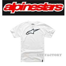 Alpinestars Tech Ageless Premium Casual T-Shirt Kaos Baju Lengan Pendek Pria Wanita Original - Putih