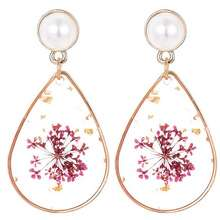 Plum LRC Anting Tusuk Fashion Red Waterdrop Shape Decorated Earrings