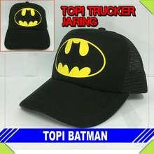 Batman topi trucker kapten captain amerika america hitam jaring pria 6faae26401