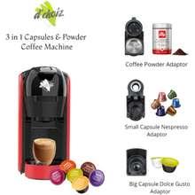 Dchoiz 3 In 1 Capsule Coffee Machine Compatible With Nespresso Dolce Gusto Coffee Powder