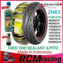 Zeneos Zn62 Motorcycle Tire Gulong Tubeless 80/80/14 90/80/14 100/80/14 110/70/14 120/70/14 150/60/1