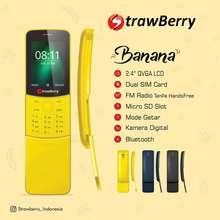 HP STRAWBERRY Strawberry BANANA - 2.4 inch- dual sim - Radio FM / Hp unik