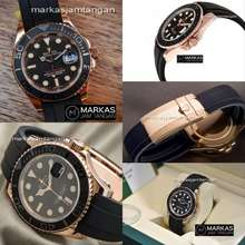Rolex Jam Tangan Pria Yacht-Master Automatic Rubber Watch Include Box Original