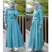 Simple Baju Gamis Wanita Sadira Dress